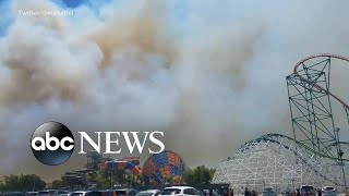 Los Angeles-area amusement park evacuated due to fire