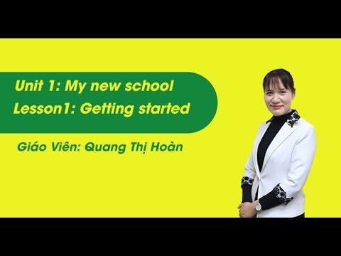 Unit 1- Getting Stared – tiếng Anh lớp 6 - cô Quang Thị Hoàn