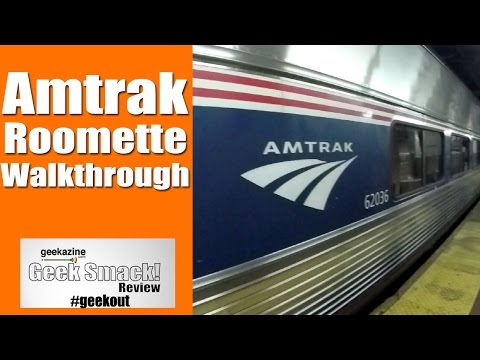 Walkthrough: Amtrak Train Roomette, Viewliner Sleeping Cars