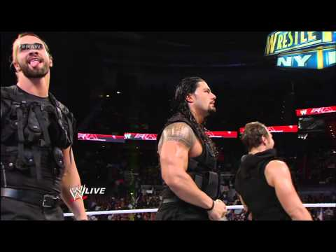 After The Shield attacks Brad Maddox, John Cena, Sheamus and Ryback send them running for cover: Raw