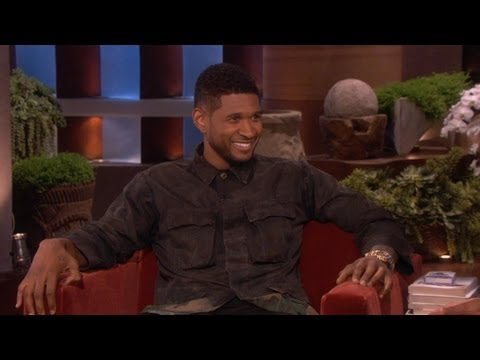 Usher Talks To Ellen About Young Justin Bieber - Video