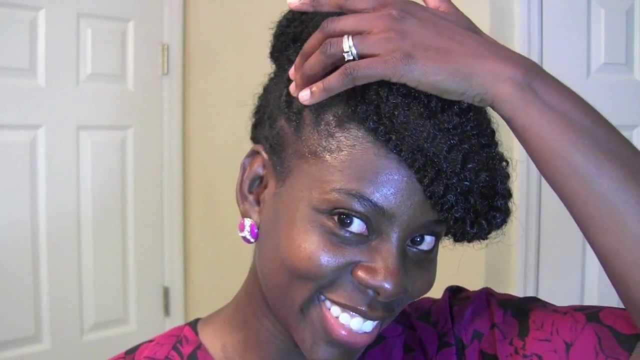 Natural Updo with Marley Hair Bun