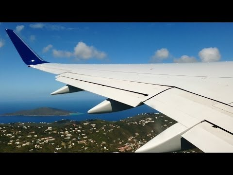 Virgin Islands!  Beautiful Delta Air Lines 757 Takeoff From St. Thomas!
