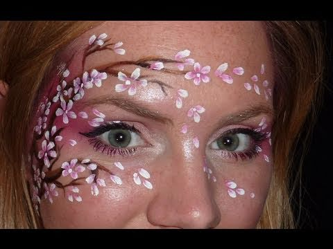 Cherry Blossom Face Painting Tutorial YouTube