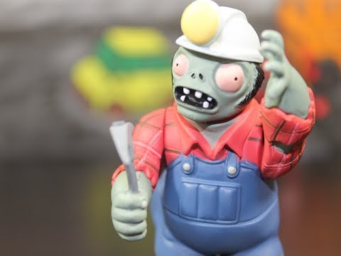 PLANTS VS. ZOMBIES - DIGGER ZOMBIE & POTATO MINE TOY REVIEW