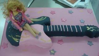 Como Hacer Una Tarta Con Forma De Guitarra Con Fondant