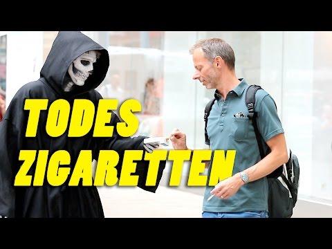 Tod verteilt Zigaretten und Kondome