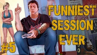 THE FUNNIEST SESSION EVER - Part 5 (GTA V Online w/ Goldy, Bunni, & Vern)