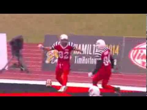 Henry Burris 7 yard touchdown pass to Greg Ellingson - September 7, 2013