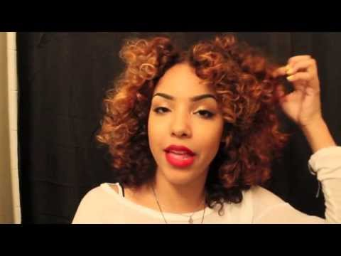 Roller Set Tutorial for Curly Hair! Using Perm Rods