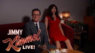Stephen Colbert Backstage at Jimmy Kimmel Live