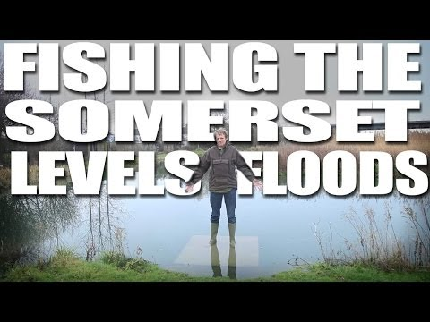 Fishing the Somerset Levels floods