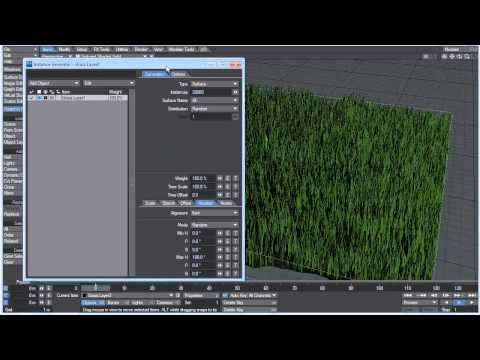 LightWave Controlling Instances with Weight Maps Tutorial