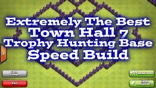 Clash Of Clans Best Town Hall 7 Trophy Base Speed Build