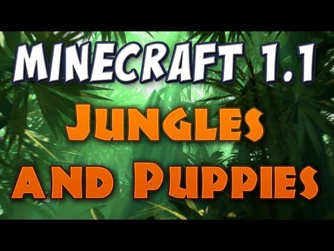 Minecraft - Jungles & Wolf Puppies! (Patch 1.2 pre-release 03a)