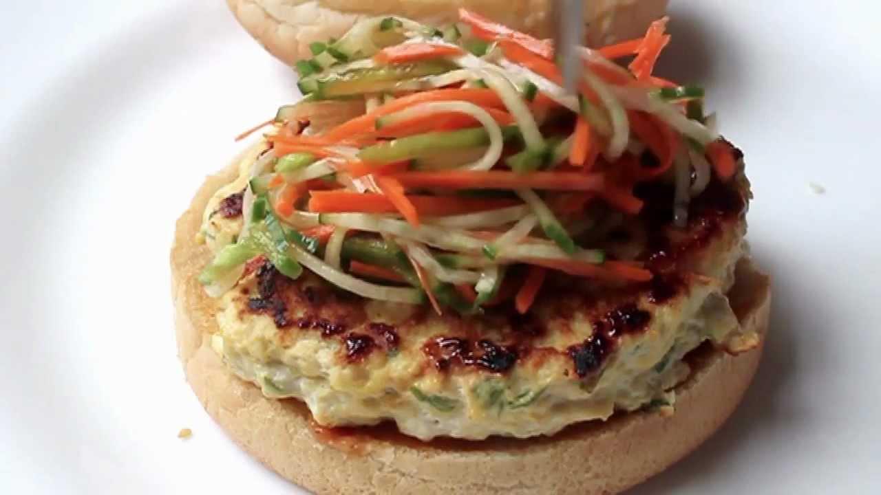 Chicken Satay Burger - Thai-style Chicken Burger Recipe - YouTube