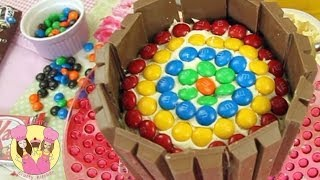 Decorate A Kit-Kat RAINBOW BIRTHDAY CAKE Easy How-to