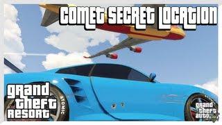 GTA 5 COMET SECRET LOCATION $85,000 Car! (Grand Theft