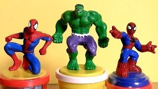 Marvel Play Doh Stampers Spider-Man & Incredible Hulk The Avengers Super Heroes Play Dough