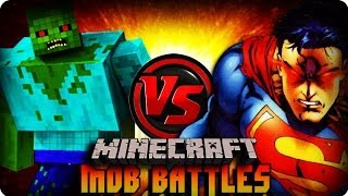 Minecraft Mod MUTANT ZOMBIE VS SUPERMAN ! Mob Battle