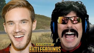 DrDisRespect Reacts to PewDiePie Drama and Funny Moments on PUBG!