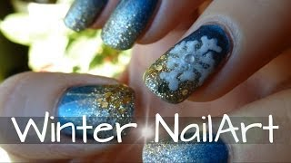 Beauty by oOMauMouseOo – [Nail Art Tutorial] ☆ Winter Nails ☆ (Nageldesign)