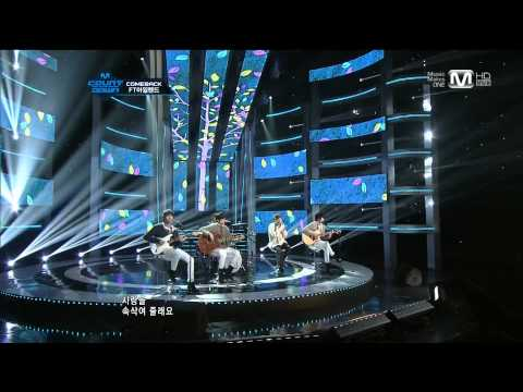 120202 M!CountDown FT Island Comeback Stage - Hope You'll Be My Lover + Severely