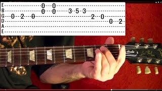 BEATLES A HARD DAY'S NIGHT Guitar Lesson By