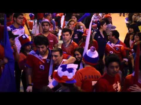 La Bandita de Macul celebración victoria ante España (Mundial Brasil 2014)