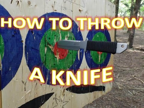 LEARN HOW TO THROW KNIVES - TRADITIONAL SPIN THROW TUTORIAL - How to throw a knife