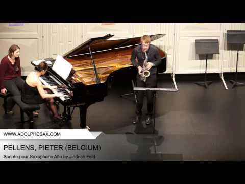 Dinant2014 PELLENS Pieter Sonate pour Saxophone Alto by Jindrich Feld