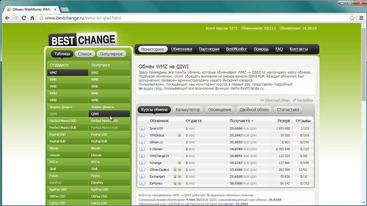 Обмен валюты на visa online