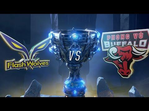 FW vs PVB | Worlds Group Stage Day 6 | Flash Wolves vs Phong Vũ Buffalo (2018)