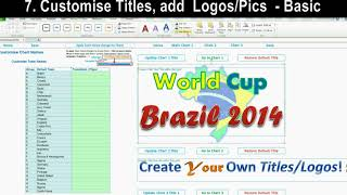 Excel World Cup 2014 Brazil Match Schedule (Customise And