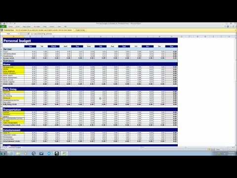 budget analyst tutorial youtube