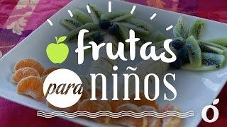 Decorar plato de frutas para niños
