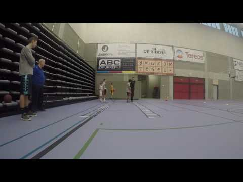 Core stability and footwork basketball workout