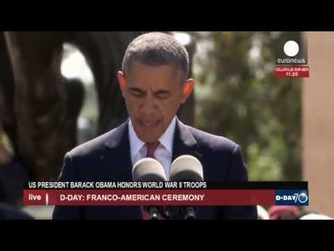 Obama, Hollande at D-Day 70th anniversary ceremony (recorded live feed)