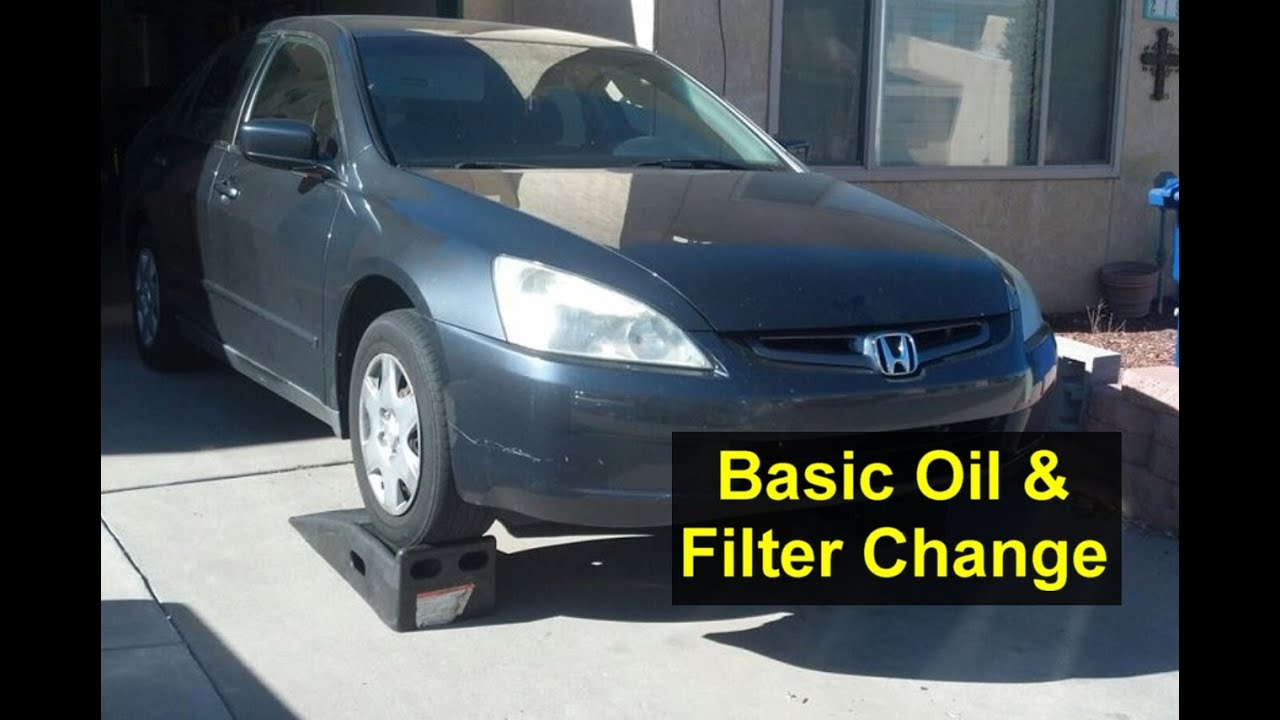basic oil change and filter change honda accord i4 4 cylinder auto repair series youtube. Black Bedroom Furniture Sets. Home Design Ideas