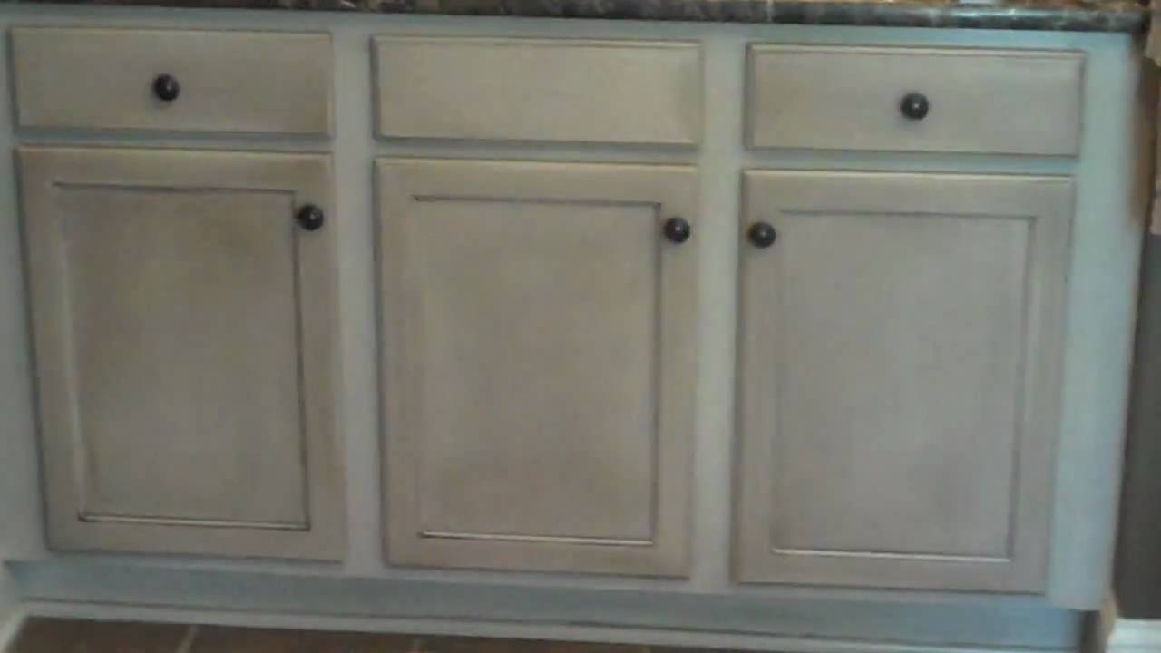 current cabinet refinishing project bathroom vanity after video 4