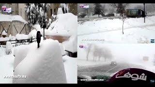 فيديو في قلب سويسرا المغرب..شوفو جمال المناظر مع الثلوج  