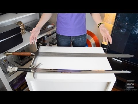 Prop Review: Game of Thrones (Valyrian Steel) Ned Stark Ice Sword & Scabbard