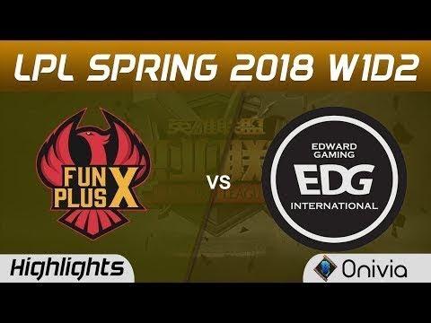 FPX vs EDG Highlights Game 2 LPL Spring 2018 W1D2 FunPlus Phoenix vs Edward Gaming by Onivia