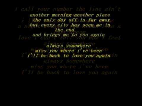 Scorpions - Always Somewhere - LYRICS