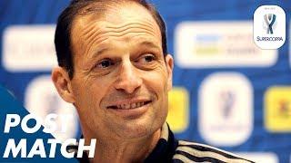 16/01/2019 - Supercoppa Italiana - Juventus-Milan 1-0, intervista ad Allegri