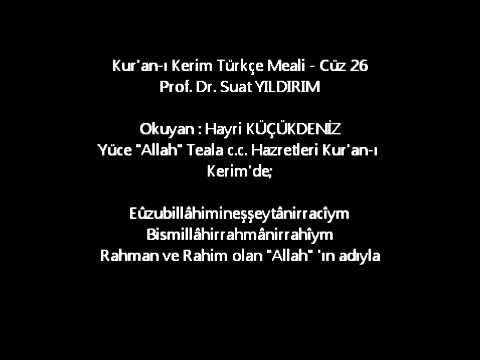 Kur'an-ı Kerim Türkçe Meali - Cüz 26