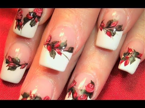 Red Rose Nail Art