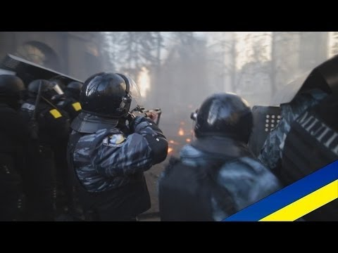 Ukraine protests Fighting in Kiev (18.02.2014)