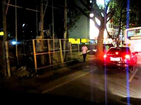 Riding through Bangalore on a Saturday Night