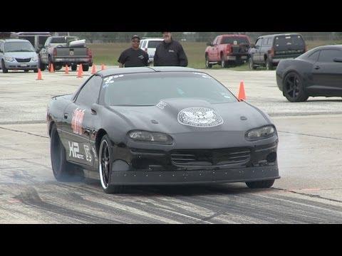 Twin Turbo Camaro - getting sideways - Texas Mile